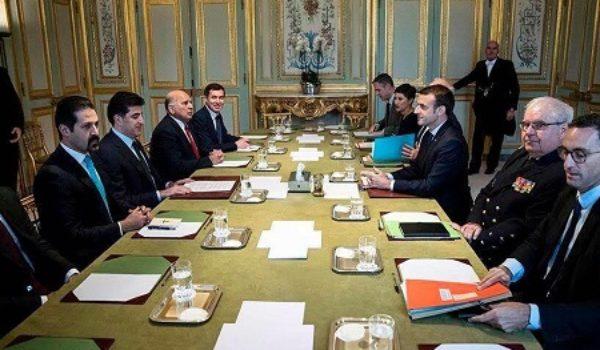 Naveroka civîna serowkezîrê Kurdistanê û serokê Fransayê li Parîsê