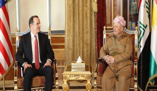 Serok Barzani pêşwazî li Nûnerê Trump kir