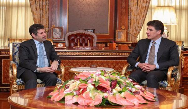Nêçîrvan Barzani li gel konsulusê Amerikayê civiya